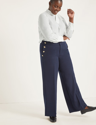 ELOQUII Button Detail Trouser