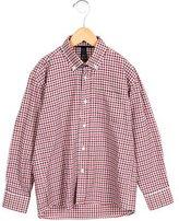 Oscar de la Renta Boys' Gingham Button-Up Shirt w/ Tags