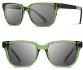 Shwood Women's 'Prescott' 52Mm Polarized Acetate & Wood Sunglasses - Emerald/ Ebony/ Grey Polar