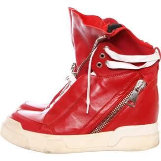 Elena Iachi \N Red Leather Trainers