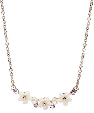 Lauren Conrad Simulated Pearl & Simulated Crystal Floral Pendant Necklace