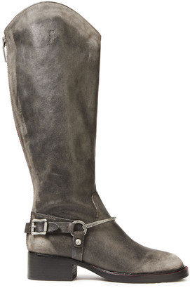 Sigerson Morrison Helana Buckled Leather Knee Boots