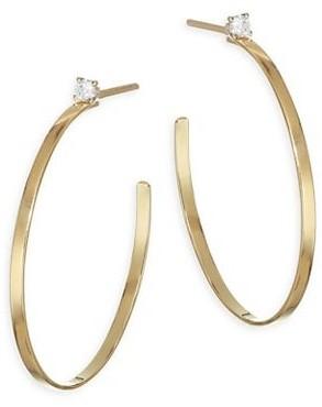 Lana Sunrise Diamond Post Hoop Earrings