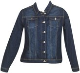 Revolt Plus Size Dark Denim Jacket -Size: Color: