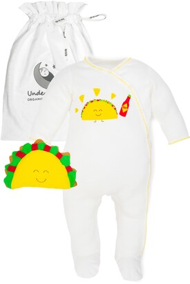 Under the Nile 2-Piece Taco Organic Egyptian Cotton Footie & Toy Gift Set