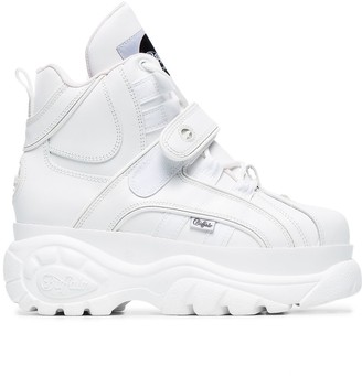 Buffalo David Bitton White 1348 platform Sneaker Boots