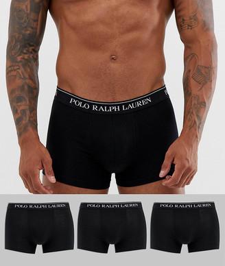 Polo Ralph Lauren 3 pack trunks in black