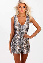 Pink Boutique Limited Edition Animal Instinct Snake Print Sequin Playsuit
