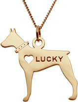 JCPenney FINE JEWELRY Personalized Doberman Pincher 14K Yellow Gold Over Sterling Silver Pendant