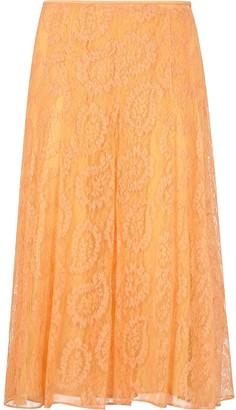 Fendi Floral Lace Midi-Skirt