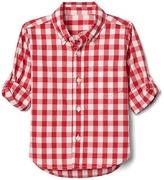 Gap Check poplin convertible shirt