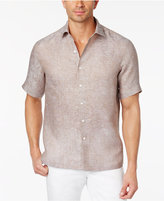 Tasso Elba Men's Paisley Jacquard Linen Shirt, Only at Macy's