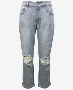 Rewash Juniors' Ripped Boyfriend Jeans