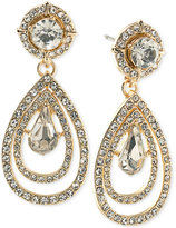 ABS by Allen Schwartz Gold-Tone Crystal Teardrop Earrings