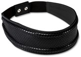 Linea Pelle Women's Snake Print Belt with Back Closure - Black