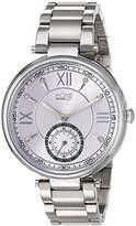 Burgi Women's Quartz Stainless Steel Casual Watch, Color:Silver-Toned (Model: BUR175SSPU)