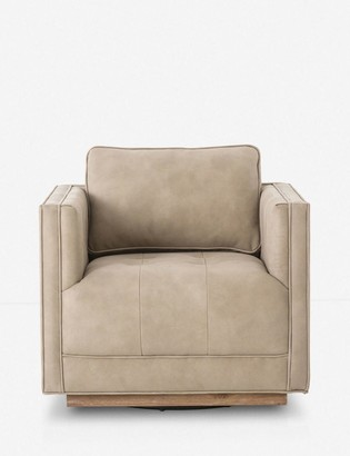 Lulu & Georgia Constance Leather Swivel Chair, Natural