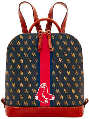 Dooney & Bourke Boston Red Sox Zip Pod Stadium Signature Backpack