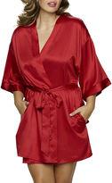 Jezebel Gem Satin Belted Kimono Robe - Plus
