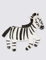 Marks and Spencer Kid's Faux Leather Zebra Cross Body Bag