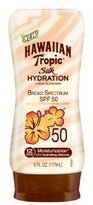 Hawaiian Tropic Sunscreen Silk Hydration Moisturizing Broad Spectrum Sun Care Sunscreen Lotion - SPF 50, 6 Ounce