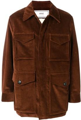 Ami Paris Sherpa-lined Safari Jacket