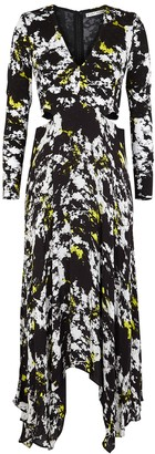 Alice + Olivia Temika Printed Cut-out Jersey Dress