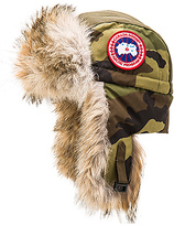 Canada Goose Aviator Coyote Fur Trim Hat in Army. - size L/XL (also in S/M)