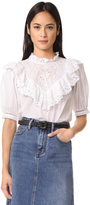 Rebecca Taylor Short Sleeve Nouveau Eyelet Top