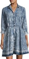 philosophy 3/4-Sleeve Chambray Dress, Blue