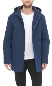 DKNY Men's All Man Micro Fiber Hooded Trench Jacket