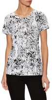 French Connection Sonny Slub Sketchy Floral Print Top