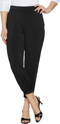 Lisa Rinna Collection Petite Banded Bottom Knit Crop Pants