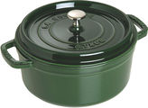 Staub 5.5 Qt Round Cocotte, Green