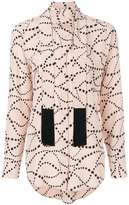 Equipment tie neck star patterned blouse