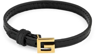 Gucci Leather bracelet with SquareG