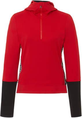 Bogner Sport Mya Logo Shell-Trimmed Stretch-Jersey Top Size: S
