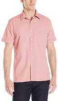 Perry Ellis Men's Stripe Textured Shirt with Chest Pocket