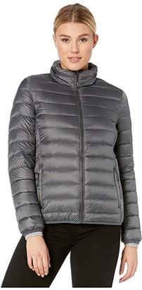 Tumi TUMIPAX Puffer Jacket (Slate Grey) Women's Coat
