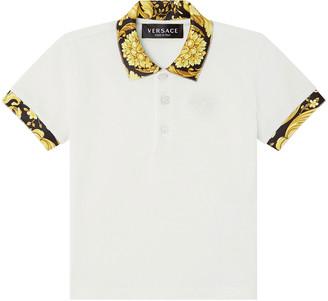 Versace Boy's Short-Sleeve Polo Shirt, Size 12-36 Months
