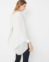 White House Black Market Petite Layered Tunic