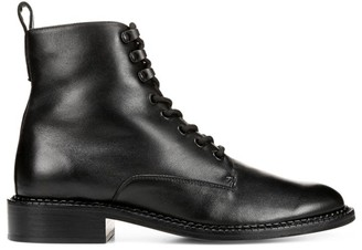 Vince Cabria Shearling-Lined Leather Combat Boots