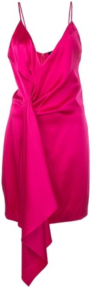 Cushnie asymmetric satin mini dress