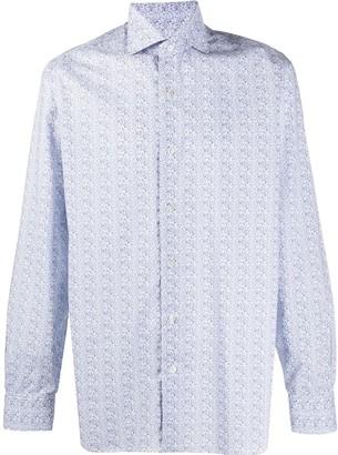 Barba Floral-Print Long-Sleeved Shirt