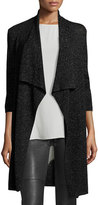 Eileen Fisher Merino Shimmer Cardigan, Black, Plus Size