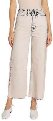 Proenza Schouler White Label High-Rise Wide-Leg Cropped Jeans