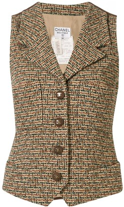Chanel Pre Owned Sleeveless Vest Jacket