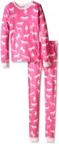 Hatley Little Girls Classic Horses Pajama Set