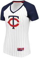 Majestic Women's Minnesota Twins Every Aspect Pinstripe T-Shirt