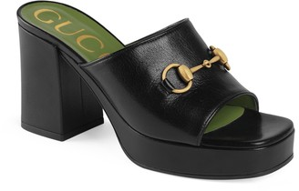 Gucci Houdan Platform Slide Sandal